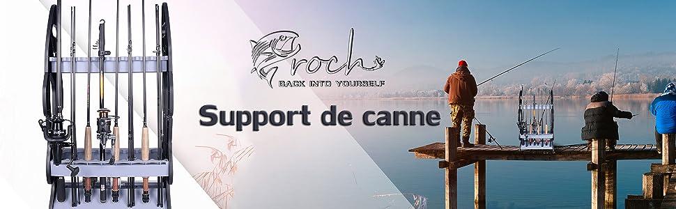 Support de Rangement pour Canne à pêche 16 Cannes Canne à