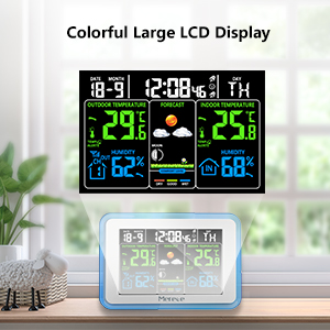 Digital Color LCD Display Weather Monitor