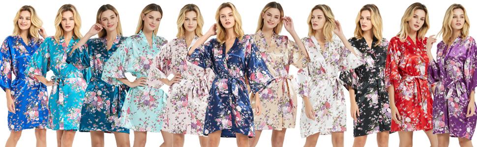 bridal robes for bridesmaid robes floral satin robes for women silk robes bridesmaid and bride robes