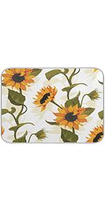 Sunflower Dish Drying Mat