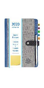 dated monthly weekly planner 2020 2021 sticky notes premium pen