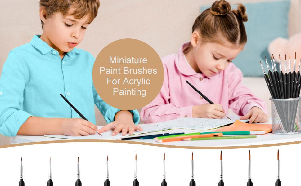 Fine Detail Paint Brush Miniature Painting Brushes Kit