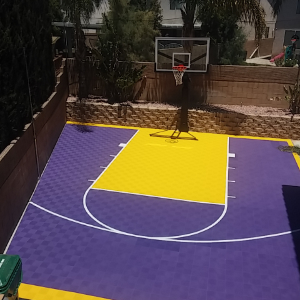 Modutile Outdoor Basketball Court Flooring Half Court Kit 20ft X 24ft Lines And Edges Included Made In The Usa