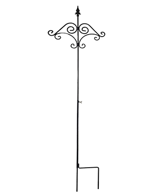 Ashman 91 Inch Adjustable Shepherds Hook With Floral Design 5/8 Inches Thick