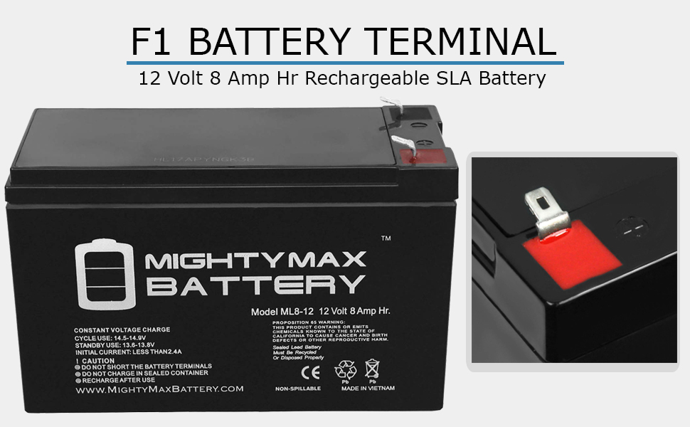 6 Pack Brand Product Mighty Max Battery 12V 8Ah Compatible Battery for APC BackUPS Pro 280PNP 500CLR
