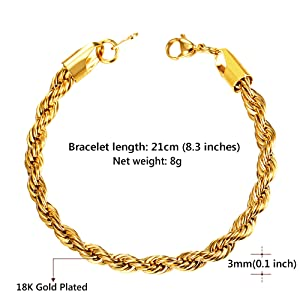 twites rope chain bracelet