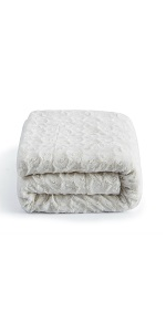 solid snow white luxury roses throw blanket faux fur fleece sherpa super soft warm winter gift