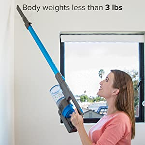 vacuum body weights less than 3 lbs