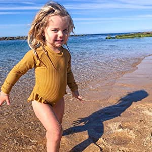 Long Sleeve One Piece Swimwear for baby girls