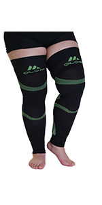 mojo thigh high compression sleeve plus size