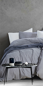washed cotton chambray duvet cover