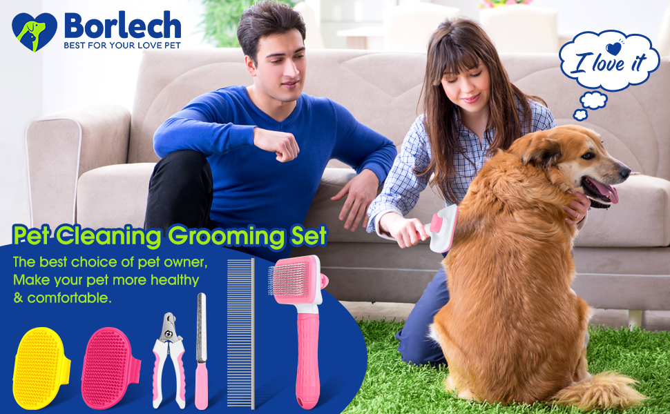Pet Grooming Brush Set
