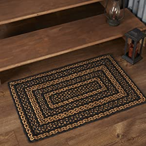 Farmhouse Jute Rug primitive country rustic Americana VHC Brands braided flooring durable