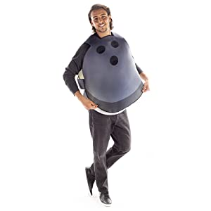 One-Size Funny Bowl Sports Costumes for Adults Bowling Ball Halloween Costume