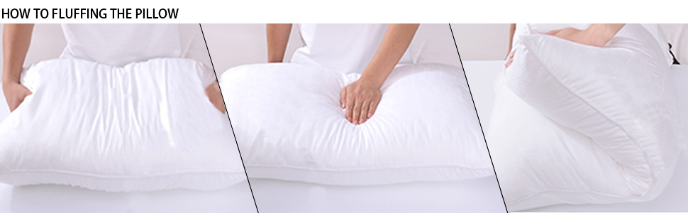 how to fluffing the pillow