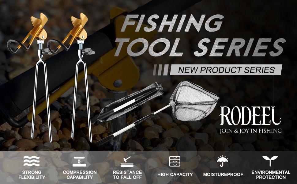 Rodeel 2Pcs Set Fishing Rods Pod Stand bank Fishing rod holder