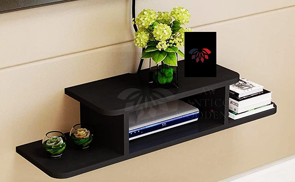 set top box wall shelf stand cabinet floating bracket shelves