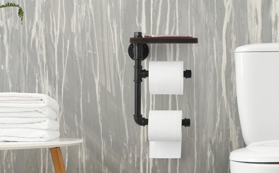 Home Cast Wrought Craft Hook Bathroom Wall Paper Towel Roll Toilet Mount Rack
