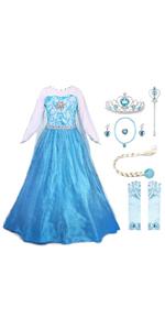 JerrisApparel Girls Princess Costume Birthday Party Halloween Cosplay Dress up