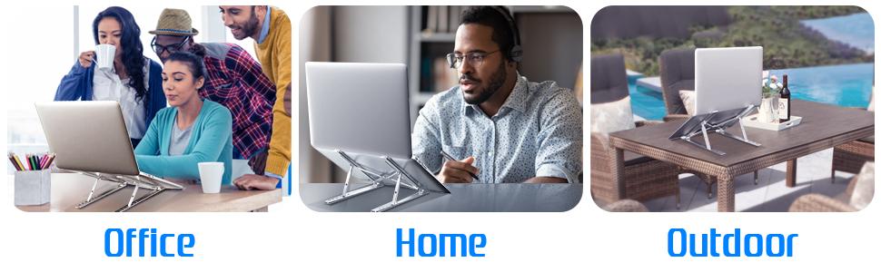 Laptop Stand,  Portable Computer Desktop Stand Adjustable Foldable Travel Notebook Holder