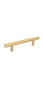 brushed brass cabinet pull
