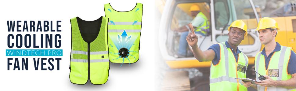 Wearable Cooling WindTech Pro Fan Vest USB powered vest