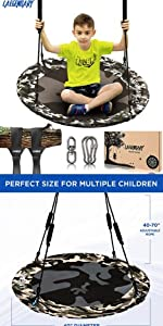 Amazon.com: 60 Inch Platform Tree Swing for Kids and