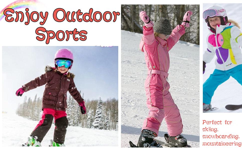 Women Mens Snow Gloves Kids Waterproof Winter Warm Thermal Ski Snowboard Ladies Glove