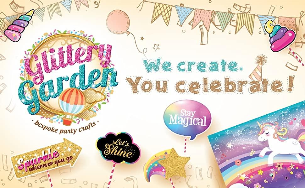unicorn theme party backdrop