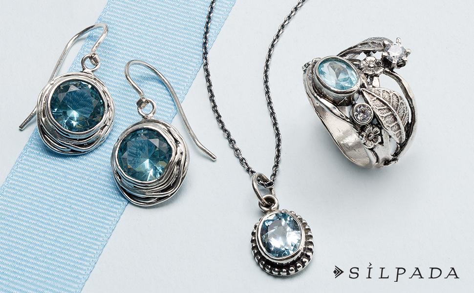 Silpada 'Sandbar' Natural Blue Topaz Pendant Necklace