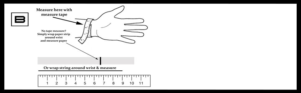 how to measure wrist for skull bracelets for men