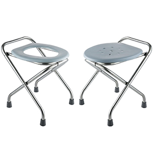 Stainless Steel Folding Commode Portable Toilet Seat