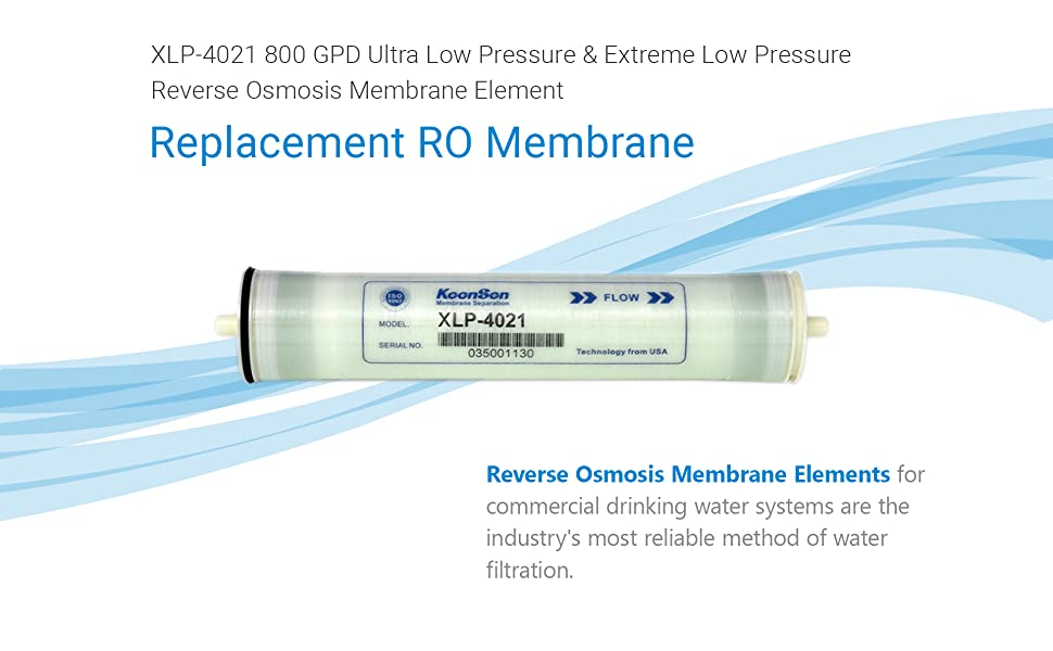 Whole House Agricultural Commercial Reverse Osmosis /& more Max Water Ultra Low Pressure and Extreme Low Pressure RO Membrane Element-ULP-2540: 750GPD High Contaminate Rejection good for Industrial