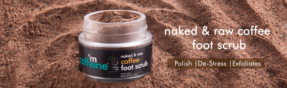 enriched with pure arabica coffee exfoliating polishing smoothens skin de stress foot scrub