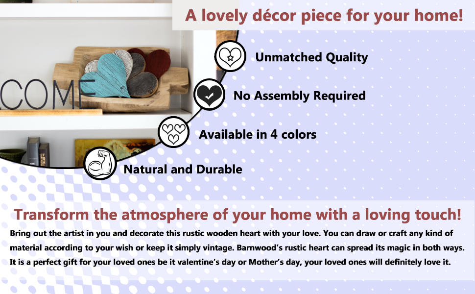 BarnwoodUSA Rustic Wooden Heart Decor Advantages