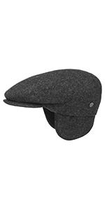 teflon flat cap with earflaps newsboy hat ear protection men winter