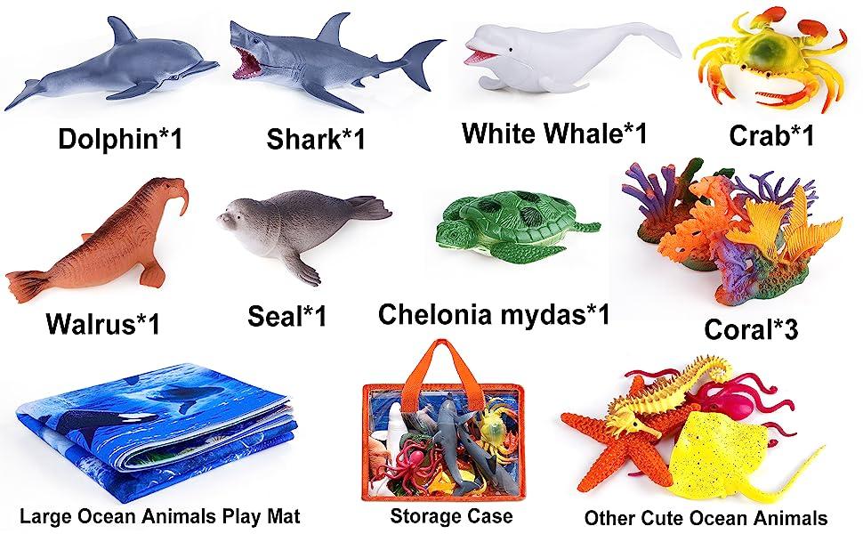 ealistic Sea Animal Toys