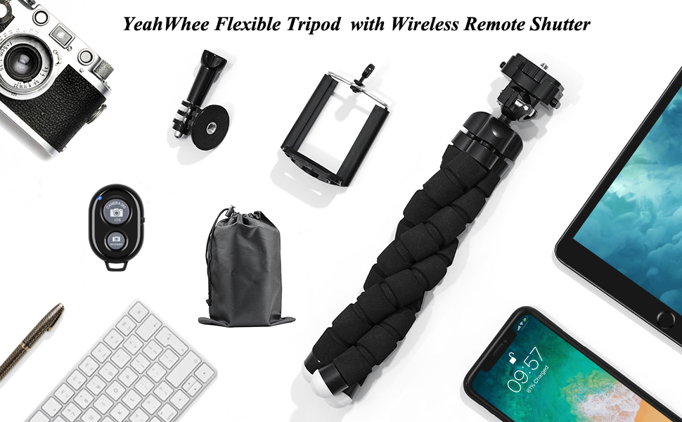 phone tripod stand ,tripod for phone ,Flexible mini phone tripod stand mount with remote control