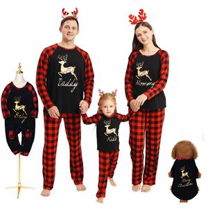 christmas pajamas for family and dog