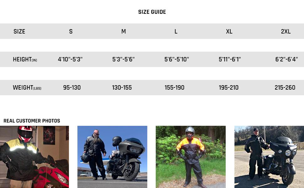 Two Piece Rain Gear, Motor Cycle Rain Suit For Men