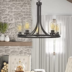 Beionxii 5-Light Chandelier Farmhouse Dinning Room Light