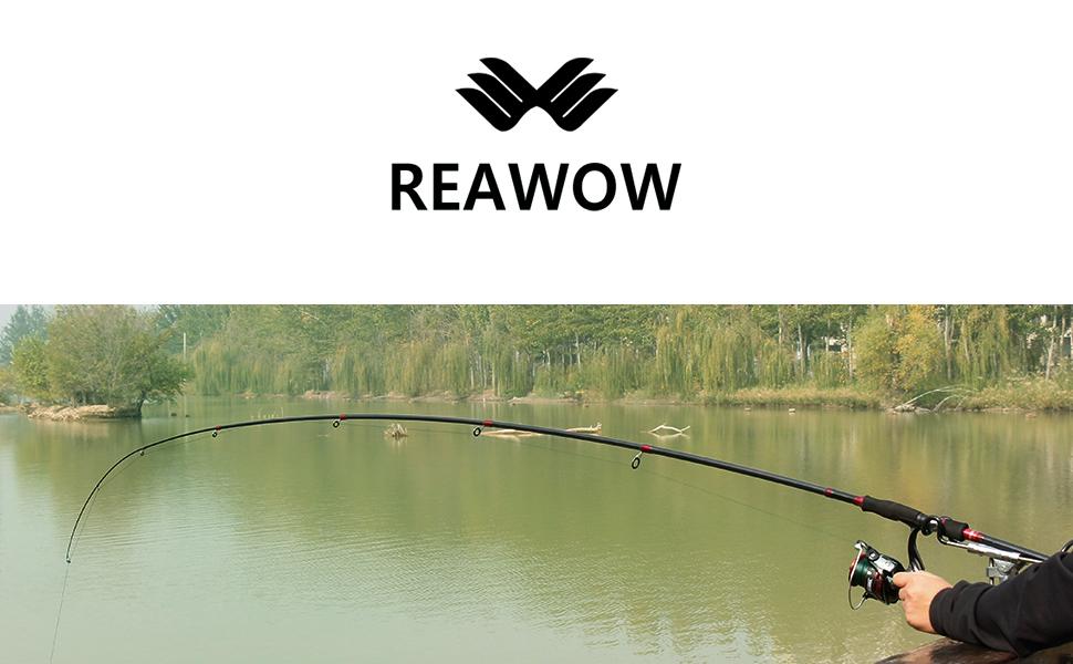 REAWOW Ultraleichte Angelrute Tragbare Teleskop-Angelrute aus Kohlefaser mit Keramik F/ührungsring Reiseangelruten f/ür das Forellenfischen Gesamtl/änge: 1.8-3.6 m
