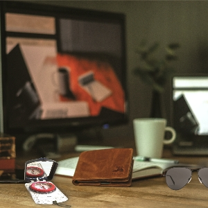 genuine leather wallet for men rfid blocking gift