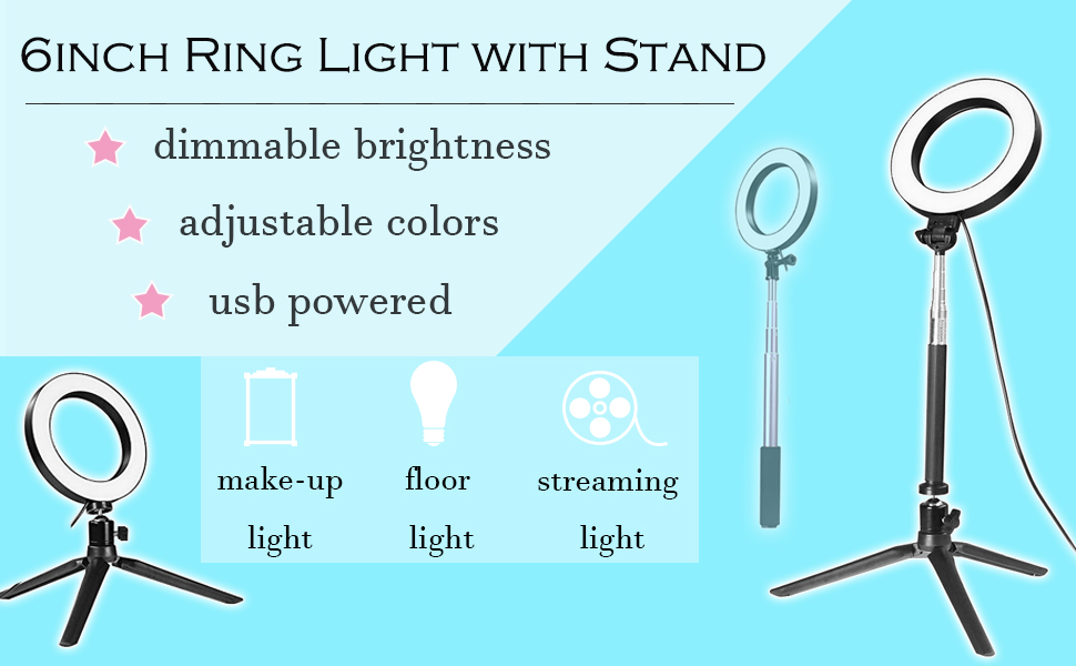 Multi-functional Ring Light with Stand