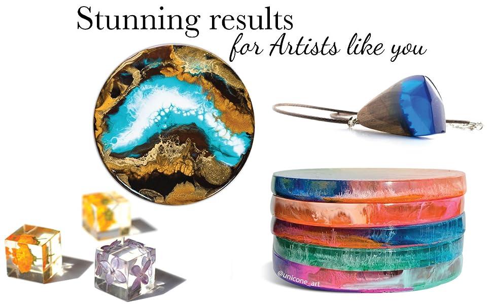 resin epoxy, art resin, alcohol ink, resin art, unicone art, geode, petri