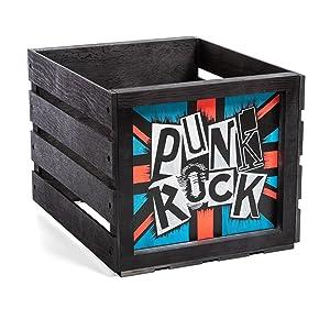 punk rock vinyl record holder chalkboard