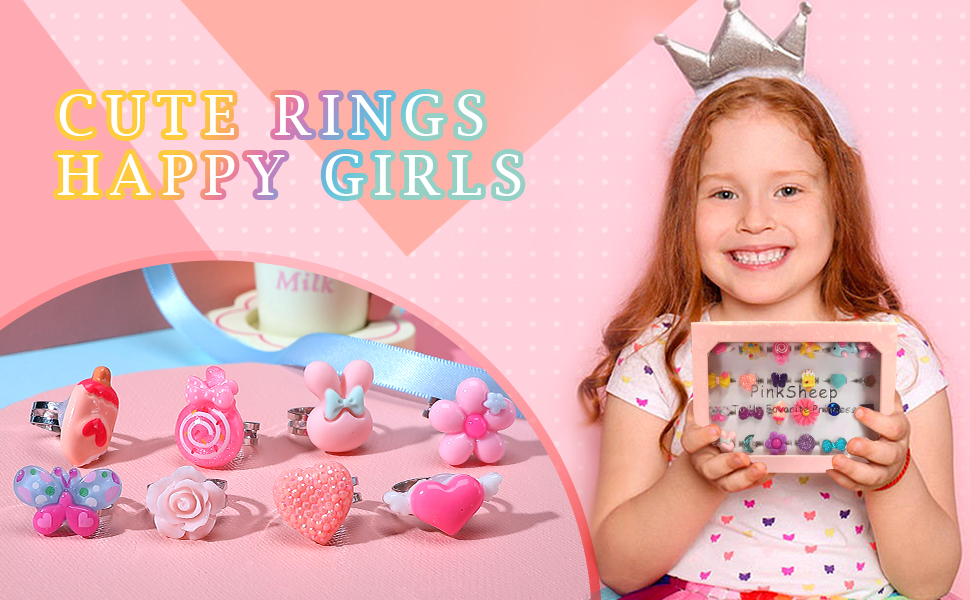 Pack of 10 rings.Toy Delivery Guaranteed It/'s Girl stuff
