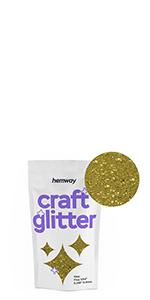 Hemway Craft Glitzerbeutel Für Kunsthandwerk Becher Schulen Papier Glas Dekorationen Heimwerkerprojekte 1 40 0 6mm Gold Küche Haushalt