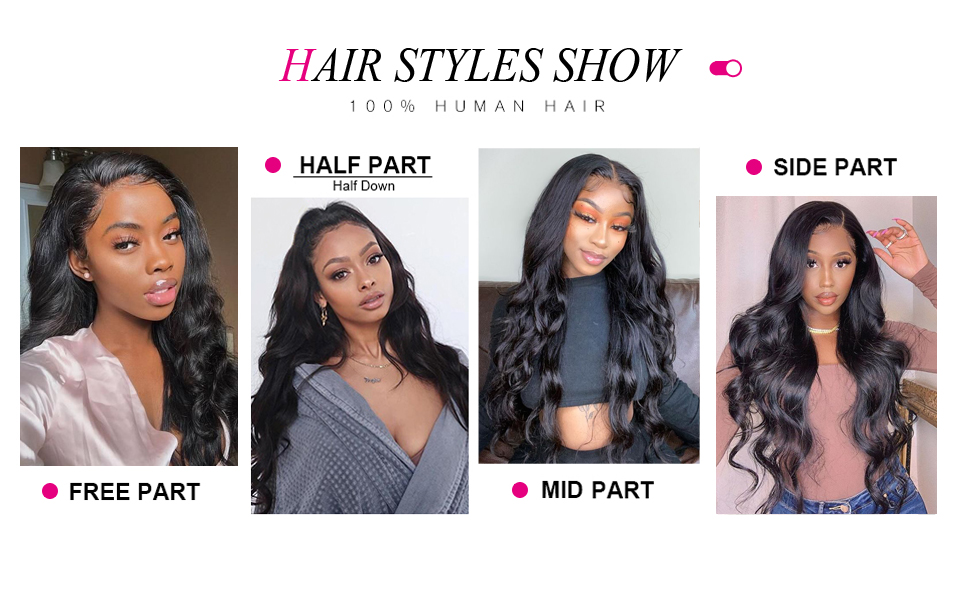 Body wave hair wigs hair style show