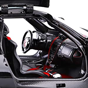 Toyshine 1:14 Pagani Huayra BC Remote Control Car, Open Door from Remote, Assorted Color